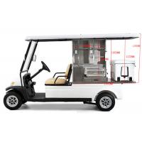 China White Color Golf Beverage Cart , Food And Beverage Golf Cart With 5 Horsepower Motor on sale
