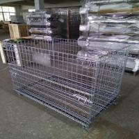Buy cheap Warehouse Metal Storage Cage Wire Mesh Gitterbox Pallet Rack 500kg Capacity from wholesalers