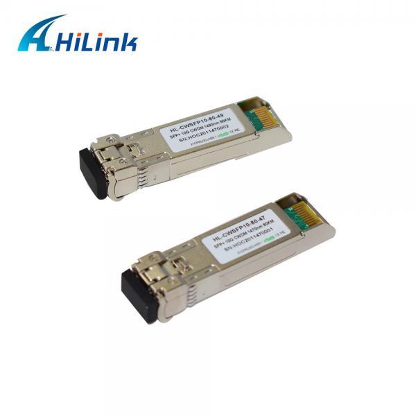 Quality SFP 1470nm 80km Optical Transceiver Module 10G CWDM for sale