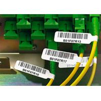 Buy cheap Strong Adhesive Plastic Cable Labels Vinyl Cable Tags With Electric Wire Label from wholesalers