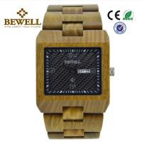 100% Natural Bamboo Wood Watch , Eco Friendly Wooden Mens Watch With Green Case Manufactures