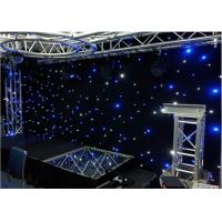 Buy cheap Stage Wedding Star Curtain led star drop Velvet curtain  LED start curtain from wholesalers