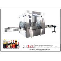Buy cheap 24 Head Nozzle Automatic Liquid Filling Machine For 0.5 - 2L Wine / Soy Sauce from wholesalers