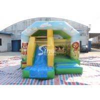 Buy cheap Inflatable Cartoon Bounce House Jumping Castle With Slide For Inflatable Games product