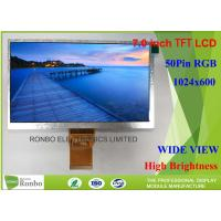 Wholesale High Brightness 7.0 Inch Industrial LCD Screen Resolution 1024*600 TFT LCD Display with 50pin RGB from china suppliers