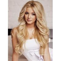Buy cheap Custom Celebrity Dark Root Boutique Shoulder Length Wavy Strawberry Blonde Lace Wig 100% Human Hair about 24 Inches from wholesalers