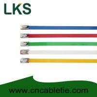 Buy cheap Colour Coated Ball-lock stainless steel cable tie from wholesalers