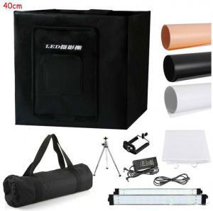 China 40cm/16Photo Studio Photography 80LED Light Tent Backdrop Kit Cube Lighting Box on sale
