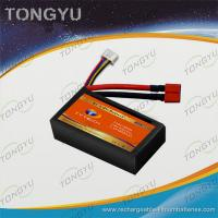 Buy cheap Black Multicopters Lipo Battery Pack 7.4V 1800mAh 40C Discharge Rate from wholesalers