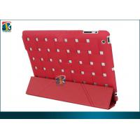 Buy cheap Pink, Red, Yellow, Black Fold Stand Leather Case for Ipad 4 Protective Covers TC-IPD4-L001 from wholesalers
