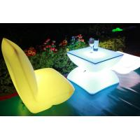 Illuminated Rechargeable LED Tables And Chairs With 4000 Mah Lithium Battery Manufactures