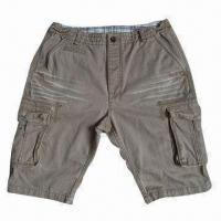 Buy cheap Men's Fashionable Twill Cargo Shorts, OEM Orders are Welcome from wholesalers