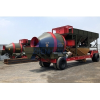 Wholesale Building Total Power 66.9kw 1500L Mobile Concrete Batch Plant from china suppliers