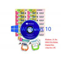 Buy cheap 32/64 bit Windows 10 Product Key Sticker Win 10 Pro COA X20 Online Activate from wholesalers