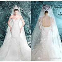 Wholesale Bling Crystal Lace Mermaid Wedding Dresses Sweetheart Bridal Dresses from china suppliers