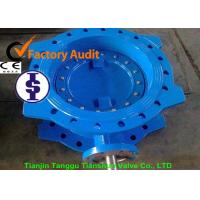 Buy cheap DN100-DN1200 Double flange eccentric butterfly valve with large diameter from wholesalers