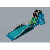 Buy cheap 38m Long Green PVC Customized Sky Flying Giant Inflatable Water Slides For Event from wholesalers