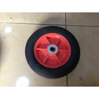 Buy cheap 8X1.75 Flexible Rubber Trolley Wheels , Solid Powder Wheelbarrow Wheels from wholesalers