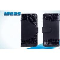 Buy cheap Black Cell Phone Leather Cases Protector , iPhone6 Stand Flip Leather Cases from wholesalers