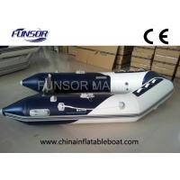 River / Sea Comfortable PVC Hull Foldable Inflatable Boat For 4 Passengers