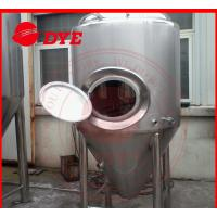 Manual Industrial Beer Brewing Equipment With Mash Tun , Conical Beer Fermenter Manufactures