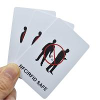 Buy cheap Reliablerfid Amazon Best seller Custom Design Logo Printing 13.56 MHz NFC Credit Card Protector Anti Scan rfid blocking from wholesalers