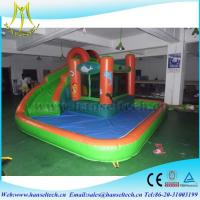 Hansel best selling commercial inflatable bouncer jumping castle with water slide in Guangzhou Manufactures