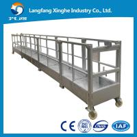 Buy cheap Aluminum mobile suspended scaffolding / electric suspended platform / rope cradle/gondola from wholesalers