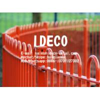 Buy cheap Solid Bar Bow Top Fence Railings, Anti-Trap Hoop/Round Top Fencing, Curved Top Hairpin Fences for Children Playground from wholesalers