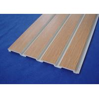 PVC Slatwall for Store Fixture PVC Wall Cladding For Garage Wall Manufactures