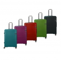 Wholesale Combination Lock Aluminium Trolley ABS Hardsiede Luggage Sets from china suppliers
