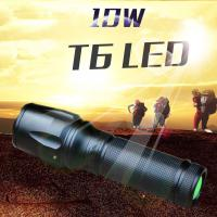 10W 1000 Lms CREE T6 5 Files Flexible Zoom Led Flashlight/Torch for Bicycling Riding Manufactures