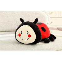 Red Five star lady beetles custom stuffed toys 35cm , ladybug plush toys Manufactures
