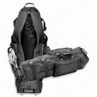 Wholesale Wheeled Golf Bag, Available in Black, Made of 1680D Ballistic Nylon from china suppliers