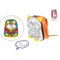 Buy cheap 11 Inch Arts And Crafts Toys DIY Drawing School Bag With 4 Color Pens For Kids from wholesalers