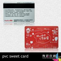 Buy cheap Silk Screen Green PVC Magnetic Stripe Cards With Bar Code , UV Spot from wholesalers