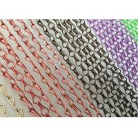 Buy cheap Aluminum Decorative Jack Hook Meshed Curtain Designs Pattern Appearance from wholesalers