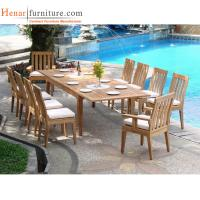 Buy cheap Teak Wood Outdoor Restaurant Tables And Chairs With Soft Seat Cushion from wholesalers