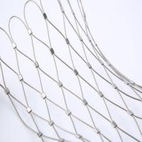 Buy cheap 316 316L rope cable wire net stainless steel wire rope mesh net  zoo mesh from wholesalers
