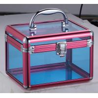 Wholesale Women Beauty Acrylic Cosmetic Case Professional Trolley Case With Mirror from china suppliers