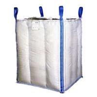 Buy cheap 1.5 Tons 4 Panel Baffle Big FIBC Bulk Bag Blue / Orange Color For Loading product
