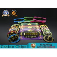 Wholesale Acrylic Crystal RFID Rectangular Poker Chips Plaque Casino Jeton Real Gaming from china suppliers