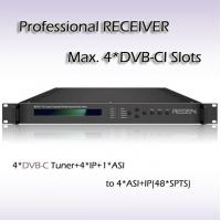 Buy cheap RSR1114 4*DVB-C TO ASI&48 IP SPTS Output Four-Channel Professional Receiver with CI Slot from wholesalers