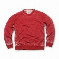 Buy cheap Mens Knitted T-shirt with Long Sleeves, Made of 100#37; Cotton, Customized Designs Acceptable from wholesalers
