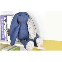 Long ears Rabbit Stuffed Animal denim toys,35CM Custom gifts Manufactures