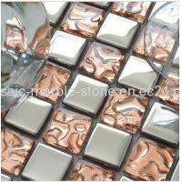 Wholesale Plating Mosaic Tiles Sliver and Bright Rose Color from china suppliers