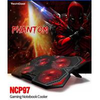 Buy cheap Low Price laptop cooling pad portable laptop cooler pad usb fan with red LED light from wholesalers