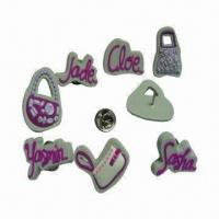 Wholesale Promotional Button Badge, Made of Soft PVC Material, OEM/ODM Orders are Welcome from china suppliers