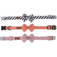 Buy cheap Detachable Bowtie Soft Cotton Dog Collars Custom Fit With Quick Release Buckle from wholesalers