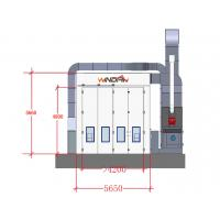 Cement Floor Car Body Maintenance Spray Stations, Side Draft Paint Booth Manufactures
